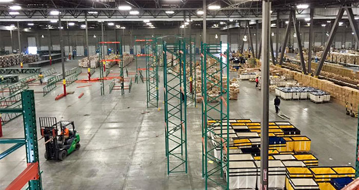 warehouse services pallet racking installation