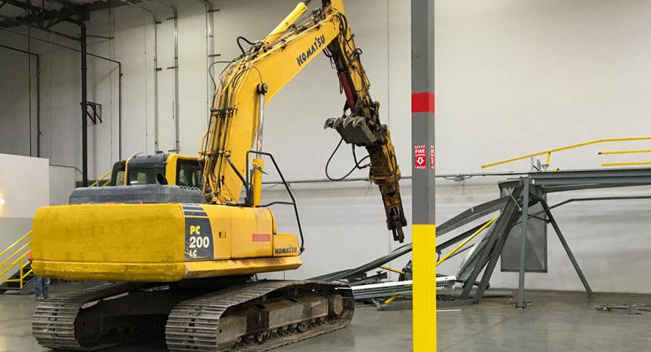 warehouse services pallet racking demolition